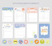 Cute Daily Note Template Stock Image