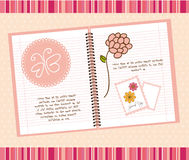 Cute notebook Royalty Free Stock Photos