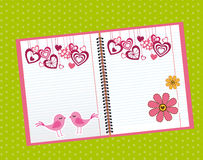 Cute notebook Stock Images