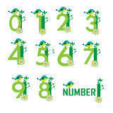 Cute Number vector Royalty Free Stock Images