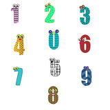 Cute number Stock Images