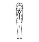 Cute nurse avatar character Stock Photos