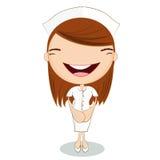 Cute nurse on white background Stock Image
