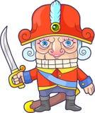 Cute nutcracker funny illustration Royalty Free Stock Photo