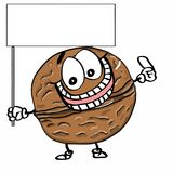 Cute nuts and ground nuts and banner illustration cartoon drawing coloring. Cute nuts and ground nuts and banner drawing and cartoon coloring drawing Stock Images