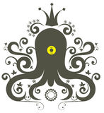 Cute octopus. Cute abstract optopus character pattern design Stock Photography