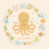 Cute octopus Royalty Free Stock Photo