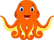 Cute octopus cartoon Stock Images