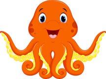 Cute octopus cartoon Stock Images