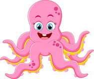 Cute octopus cartoon Royalty Free Stock Images