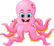 Cute octopus cartoon Stock Photos