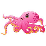 Cute octopus cartoon Royalty Free Stock Photos