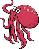 Cute octopus cartoon illustration Stock Photography