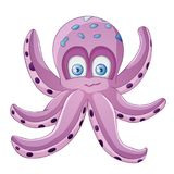 Cute octopus. Cartoon isolated on white background royalty free illustration