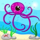 Cute octopus cartoon Stock Photos