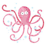 Cute octopus isolated. T-Shirt design for children Stock Image