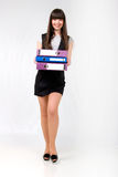 Cute Office Girl With Documents. Stock Photos