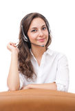 Cute office girl. Portrait of a cute young brunette office girl Stock Images