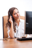 Cute office girl. Royalty Free Stock Photography
