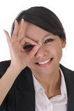 Cute office lady with funny face Royalty Free Stock Photography