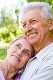 Cute old couple Stock Images