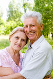 Cute old couple Royalty Free Stock Photo