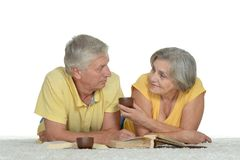 Cute old couple Royalty Free Stock Photos