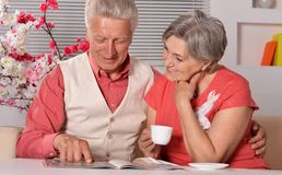Cute old couple Stock Photos