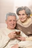 Cute old couple Stock Photos