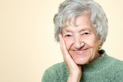 Cute old senior lady portrait Royalty Free Stock Photography