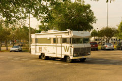 A cute old winnebago parked at camping world, fort myers Stock Photo