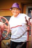 Cute Older Woman stock photo