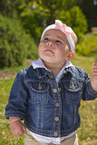 Cute One Year Old Outside Royalty Free Stock Images
