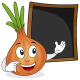 Cute Onion & Recipe or Menu Blackboard Stock Photos
