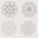 Cute openwork snowflakes Royalty Free Stock Photos