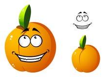 Cute orange apricot cartoon character Royalty Free Stock Photos