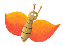 Cute orange butterfly Royalty Free Stock Photos