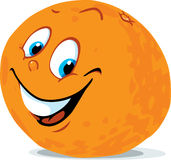 Cute orange citrus fruit cartoon - vector Royalty Free Stock Photos