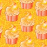 Cute  orange cupcake Stock Photo