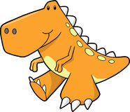 Cute Orange Dinosaur Vector Royalty Free Stock Photo