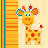Giraffe vector. Cute orange giraffe vector illustration Stock Images