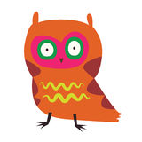 Cute orange owl Royalty Free Stock Image