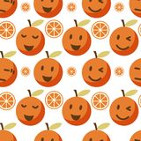 Cute orange seamless pattern. Vector background Stock Images