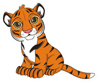 Cute orange tiger Royalty Free Stock Images