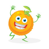 Cute orange on a white background. Vector Stock Photos