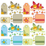 Cute Orchid Labels Royalty Free Stock Image