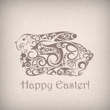 Cute ornamental Easter rabbit. Royalty Free Stock Images