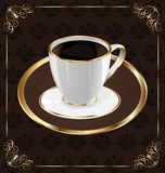 Cute ornate vintage wrapping for coffee Royalty Free Stock Images