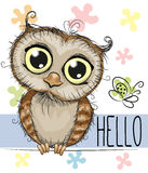 Cute owl vector illustration