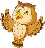 Cute owl cartoon flying. Illustration of cute owl cartoon flying vector illustration